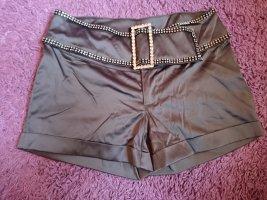 Melrose Hot pants argento Poliestere