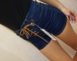Hotpants mit Schnürung