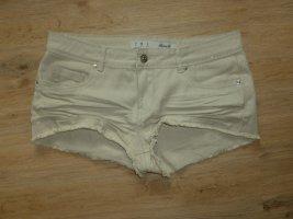 Hot pants color cammello Cotone