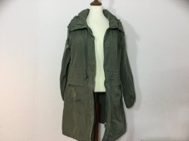 HOX Parka khaki Gr. L Jacke Übergangsjacke Kapuze dünn neuwertig Damen