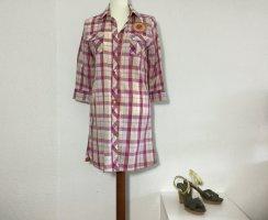 HUBERMAN'S NEW YORK Kleid kariert Gr. S Sommerkleid rosa beige Neuwertig