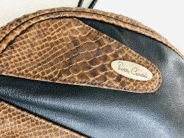 Hübsche Damen Handtasche Umhängetasche von Pierre Cardin schwarz Reptil