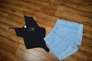 Hübsche High Waist Jeans Hot Pant Gr. 34 neu Nakd
