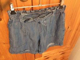 Rich & Royal Pantalón corto de tela vaquera azul acero lyocell