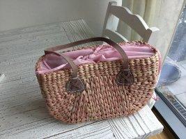Borsetta a cestino rosa chiaro-rosa