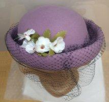 Vilten hoed paars Wol
