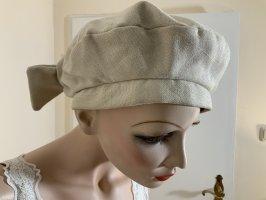 Stephen y Cappello in tessuto bianco sporco