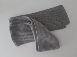 Knitted Scarf silver-colored-light grey wool