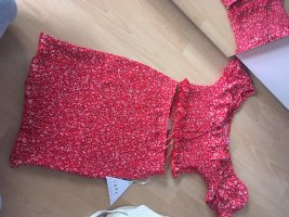 Love Triangle Jersey twin set rood-wit