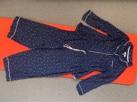 Evans Pijama azul oscuro-blanco