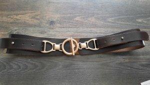 In Linea Cinturón de cadera color plata-marrón oscuro