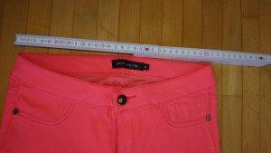 Low-Rise Trousers neon orange-neon pink