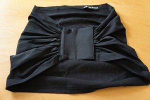 Ceinture en tissu noir coton