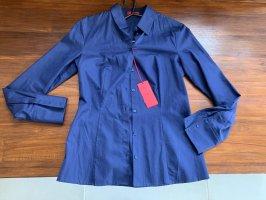 Hugo Boss Cols de blouses bleu-bleu foncé
