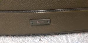 Hugo Boss Briefcase ocher leather