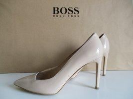 Hugo Boss High Heels nude Business-Look, Leder. Neu