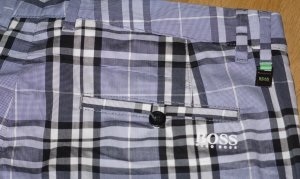 Hugo Boss Hose kariert in Grau