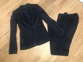 Hugo Boss Tailleur-pantalon bleu foncé coton
