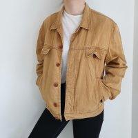 Hugo Boss Jeansjacke Jeans jacke True vintage beige senf oversize Mantel pulli pullover