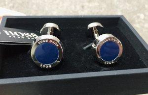 Hugo Boss Bouton bleu foncé-argenté métal