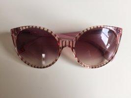 Hugo Boss Round Sunglasses dark red