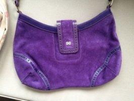 HUGO BOSS original Designer Handtasche  Echtleder violett