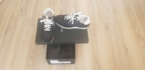 Hugo Boss Lace-Up Sneaker black leather
