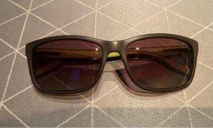 Hugo Boss Kwadratowe okulary przeciwsłoneczne czarny-zielony