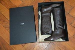 Hugo Boss Botas estilo militar marrón-negro Cuero