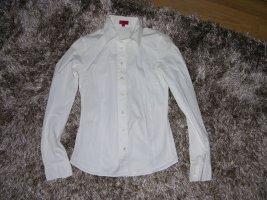 Hugo Boss taillierte weiße Bluse Langarm Gr. 32/XS Top Zustand
