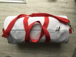 HUGO BOSS Tasche Sporttasche Golf Tennis weiß rot neuwertig
