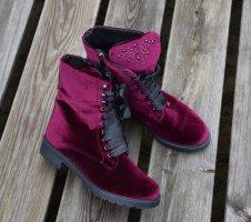 Humanic - Winter Samt Stiefelette Schnür boots Gr. 40
