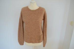 HUMANOID Traum Pullover Wolle M 38 nude zimt meliert wie NEU!