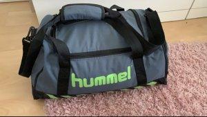 Hummel Sporttas neon groen-grijs