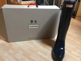 Hunter Wellington laarzen donkerblauw Gemengd weefsel