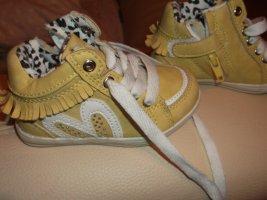 HUPSAKEE Boots NEU mit Glitzersteinchen & Leoprint Halbschuhe für die Prinzessin gelb