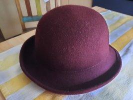 Wollen hoed bordeaux
