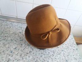 Cappello di lana bronzo-marrone chiaro