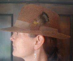 angelo litrico Bowler Hat light brown-brown wool