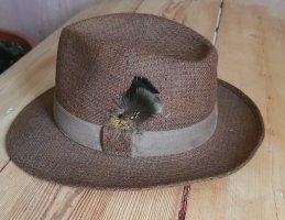 angelo litrico Folkloristische hoed lichtbruin-bruin Wol