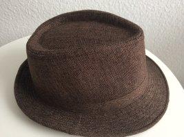 Wollen hoed zwart-bruin Gemengd weefsel
