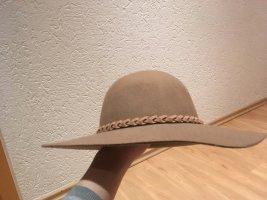 Wollen hoed beige Wol