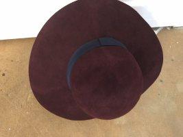 s.Oliver Sombrero de fieltro rojo amarronado-burdeos