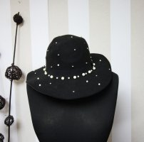 Chapeau en laine noir-blanc