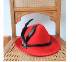 Bijou Brigitte Felt Hat red-dark red alpaca wool