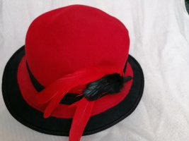 MAYSER Felt Hat black-red