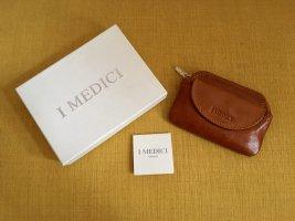 I Medici Firenze Portemonnaie, 100% Leder, Giallo Macchiato