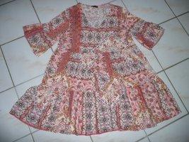 Ibiza Hippie Strandkleid Tunika Kleid Long Bluse Bunt Ethno Boho 36 38 40 42