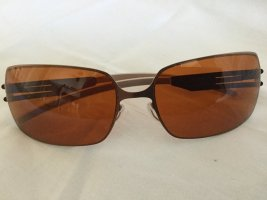 Angular Shaped Sunglasses dark orange metal