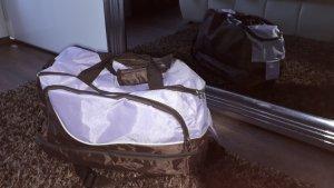 Torba podróżna bladofiołkowy-brązowy